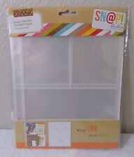 Simple Stories SNAP 3x4 & 4x6 Page photo Protectors Refill Pages SN@P studio