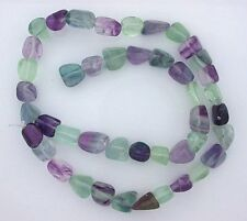 Polished Freeform Nugget Natural Fluorite Gemstone Gem Bead 15 Inch Strand