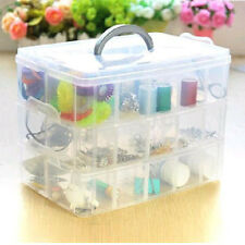 Compact 3 Layer 30 Compartments Plastic Storage Box Cosmetic Case Storage Boxes
