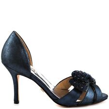 NIB Badgley Mischka VITA D'orsay heels sandals open toe shoes navy blue  6,5