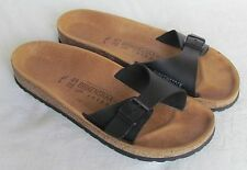 NEW Birkenstock Ladies Black Leather Mules Sandals UK Size 7 - 7.5