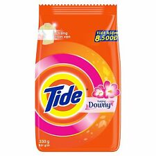 (1 Bag) Tide Plus A Touch Of Downy Laundry Detergent Plus Softener - 330g/11.6oz
