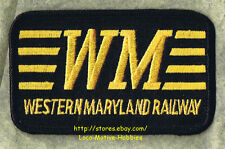 LMH Patch  WESTERN MARYLAND Railway  WM Railroad  FAST FREIGHT LINE black 3-1/2""