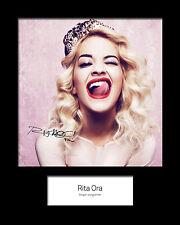 RITA ORA #2 Signed Photo Print 10x8 Mounted Photo Print - FREE DELIVERY