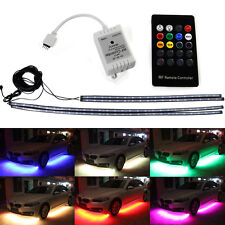4 pcs Suis RGB Colors LED Strip Under Car Underbody underglow Neon Lights Kit