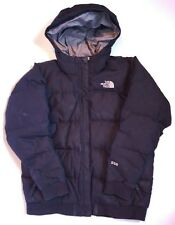 The North Face 550 Down Puffer Hooded Jacket Coat Black Girl's XL