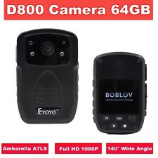 HD 1080P IR Night Vision Police Camera Person POV View Body Worn Camera 64GB DVR