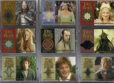 LOTR ROTK Return of the King Update Complete 9 Costume Card Set