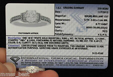 $8500 New 18K IGI Certified 1.26ct G Si Hearts Arrows Diamond  Engagement Ring 1