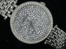 CARAVELLE NEW YORK 43L160 GLAM STYLE WHITE GOLD PLATED LADIES WATCH