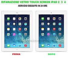 Sostituzione vetro rotto apple iPad 2 3 4 riparazione touch schermo