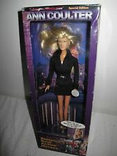 ANN COULTER AMERICA'S REAL ACTION HERO TALKING  DOLL IN BOX TALKING PRESIDENTS