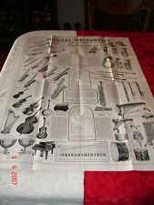 1939 LARGE MUSIC STORE POSTER PAN-AMERICAN BAND INSTRUMENT CO. Elkhart, IN