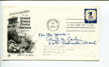 Paul Carlin US United States Postmaster General Signed Autograph FDC
