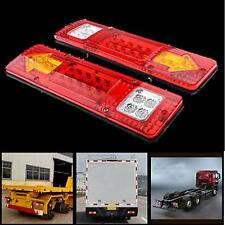 2X 19 LED Trailer Truck RV ATV Turn Signal Running Tail Light #S White-Amber-Red