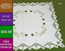 Shamrock Tablecloth Clover Ireland Irish Kitchen Diner Celtic Gift Cover M450