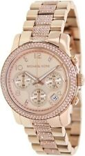 Michael Kors 'Runway' Crystal Chronograph Bracelet Watch, 38mm Rose Gold