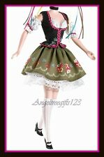 Octoberfest outfit costume fits Barbie model muse silkstone