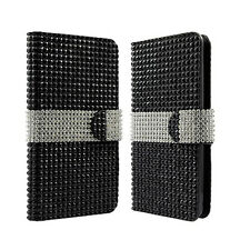 For Kyocera Hydro Wave C6740 Bling Diamond Wallet Case Flip Pouch Phone Cover