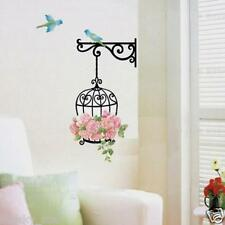 Fashion Flower Bird Wall Decal Sticker Vinyl Removeable Mural Sticker Home Deco