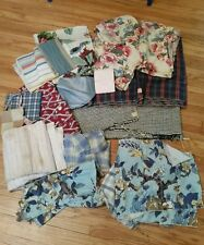 1940s Vintage Fabric Remnant Scrap Lot Upholstery Cotton Tapestry Quilt Flannel