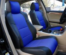 ACURA TL (NOT TYPE-S) 2004-2008 BLACK/BLUE S.LEATHER CUSTOM FIT FRONT SEAT COVER