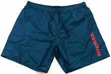 Diesel Mens Swim Beach Shorts Blue/Green Markred Red Logo XXLarge XXL Cheap Sale