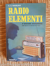 1972 RADIO ELEMENTI CORSO RADIOTECNICI RIPARATORE VECCHIA SCHEMI VALVOLE HOEPLI
