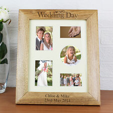 Personalised Wedding Day Wooden 10x8 Photo Frame Gift Idea Anniversary Present