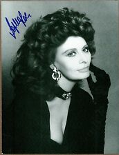 "Sophia Loren, Actress, Signed 7"" x 9 1/4"" Black & White Photo, COA, UACC RD 036"