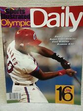 1996 Sports Illustrated Olympic Daily Program Day 16 Cuban Baseball 151140