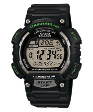 CASIO TOUGH SOLAR RUNNER DIGITAL WORLD TIME ALARMS MEN'S WATCH STL-S100H-1AV NEW