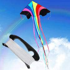 100m Flying Kite Line String With D Shape Winder Handle Outdoor Board  Kite Tool