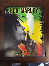 "Bob Marley Wood Mount Poster : ""when you smoke the herb..."""