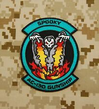 Ace Combat SPOOKY AC-130 Morale Patch Hook Backing