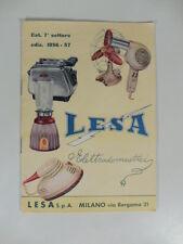Lesa elettrodomestici. Catalogo pubblicitario
