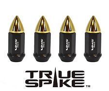 """20 VMS RACING 60MM 1/2"""" FORGED STEEL EXTENDED LUG NUTS W/ GOLD FOR FORD LINCOLN"""