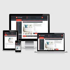 eBay Auktionsvorlage Aquino Rot Responsive Design HTML Template Vorlage