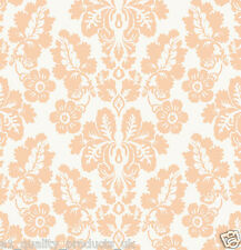 Kuboaa Wallpaper, Lubien Damask, Peach, Featured Wall, BNIB, RRP £57... K2L02