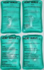 4 Instant Reusable Hand Warmers, Heat Wave XT brand, portable, larger, (2 pair)