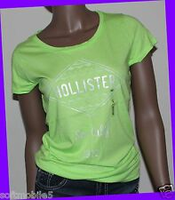 Hollister Co. Womens GREEN Tribal Print Graphic Design Tee T-Shirt SMALL S Girl