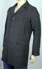 Tommy Hilfiger Wool Blend Top Coat Charcoal Grey Large L $275
