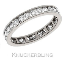 Certified D Flawless 1.00ct Diamond Eternity Ring Brilliant Cut 18ct White Gold