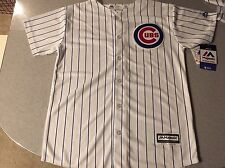 MAJESTIC COOL BASE CHICAGO CUBS YOUTH BOYS STITCHED HOME JERSEY SZ L 14-16 NWT