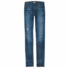 RRL RALPH LAUREN japan selvedge denim skinny double RL slim distressed jeans 25