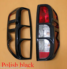 Surround Cover Rear Tail Light Polish Black For Nissan Frontier Navara D40 05-14