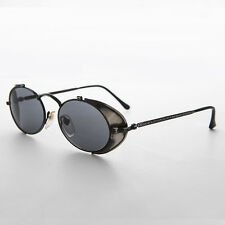 Side Shield Steampunk Goggle Sunglasses Vintage Gun Metal NOS  -Orson