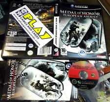 MEDAL OF HONOR EUROPEAN ASSAULT NINTENDO GAMECUBE PAL ESPAÑA COMPLETO EA GAMES