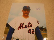 Ron Taylor NY Mets, Cardinals, Astros signed color 8 x 10 with COA