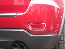 REAR BUMPER MARKER LIGHT CHROME BEZELS FIT 2011 -  2017 JEEP GRAND CHEROKEE